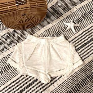 SUBOO White Linen Gauze Shorts Boho Shorts Small